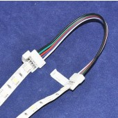 10mm 12mm Width RGBW Strip Connector Extend Line 5 pin and 2 Clips 5Pcs