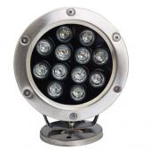 12W Led Underwater Light 12/24V IP68 Waterproof Pool Fountain Lamp