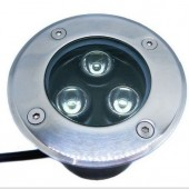 3W Underground LED Buried Light Stainless Steel Waterproof Garden Lamp