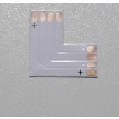 L Shape 4 PINs Connector for 10mm RGB LED Flex Strip SMD5050 10Pcs