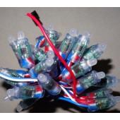 9mm Bullet Type DC 5V 50nodes WS2811 LED Pixel String IP68 RGB Light