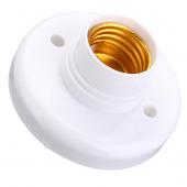 E27 Screw Base Round Light Bulb Lamp Socket Holder Adapter 3pcs