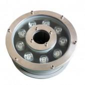 9W Underwater LED light IP68 Waterproof 12V/24V Fountain Pool Ring Lamp Floodlight