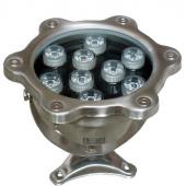 9W Underwater LED Light IP68 Waterproof 12V 24V Fountain Pool Lamp