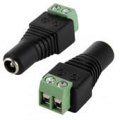 Female Power Connector Screw Terminal Barrel Style Plug 12v 24v 10Pcs