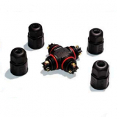 L20 4T Industrial Power Cable Wire Connector 2 Pin Waterproof IP67