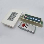 RF Wireless Remote Panel RGB LED Controller DC 12V 24V