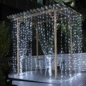 3M x 3M 300 LED Icicle Curtain String Light Christmas Fairy Garlands Lighting