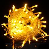 2Pcs Yellow Fairy Lights Christmas Tree String Lighting 10M 100 LEDs