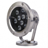 9W LED Underwater Light IP68 Waterproof 12V/24V Swimming Pool Fountain Aquarium Fish Tank Pond Lamp