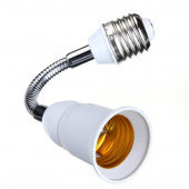 20CM 30CM E27 Flexible Extend Light Bulb Lamp Screw Socket Adapter Connecter