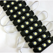 20Pcs 3 LEDs 12V Waterproof 5050 LED Module Injection Black ABS Plastic