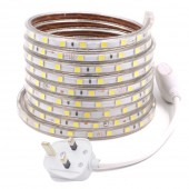 220V 60LEDs/M SMD 5050 LED Strip Waterproof Flexible Light High Bright with Power Plug