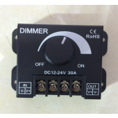 30A 360W LED Single Color Dimmer Switch Brightness Controller for 12V 24V LED Strip Light