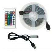 5V 2835 LED Light Strips USB IR Controller Ribbon Lamp For Festival Party Bedroom RGB BackLight 5M