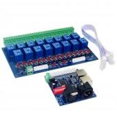 DMX512 Controller Relay Switch DIY Converter DMX Decoder Max 10A DMX-RELAY-16CH