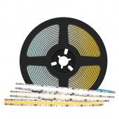 FCOB CCT LED Light Strip 640 LEDs FOB COB 10mm Linear Dimmable 24V
