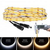 FCOB Led Lights 6mm PCB 512LEDs/M RA90 Flexible Linear Dimmable 12V 24V