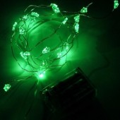 Green Christmas Tree 7ft 2M 20 LED String Fariy Light Battery Powered 5pcs