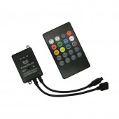 IR 20 Keys Music LED Controller for RGB Strip Tape DC5-24V 144W