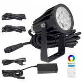 MiLight 2.4G FUTC08A DC 24V 6W RGB+CCT Waterproof LED Garden Light + Power Cable Kit Ourdoor Lighting Gear