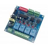 4 Channels Relay DMX512 Decoder Converter DMX-RELAY-4CH-220-BAN