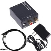 Optical Coaxial Toslink Digital To Analog Audio Converter Adapter RCA L/R 3.5mm Output Port