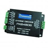 PX24506 DMX Decoder Driver Amplifier Controller For 5050 3528 RGB LED Strip 12-24V