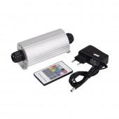 RGB 20W LED Fiber Optic Engine Driver double heads + RF Remote controller