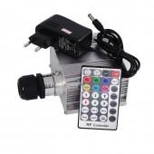 10W RGBW LED Fiber Optic Engine Machine Driver with RF Remote controller