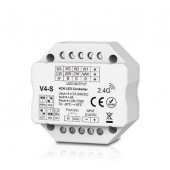 Skydance V4-S Led Controller 4CH*3A 12-24VDC Controller, Flush or Surface Mounting