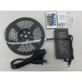 RGB LED Strip Lighting Full Kit SMD 5050 5M 300LEDs Waterproof Light
